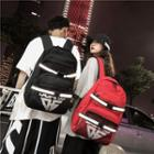 Reflexive Detail Canvas Backpack