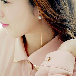 Faux Pearl Thread Earrings