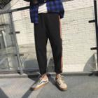 Drawstring Contrast-strap Harem Pants