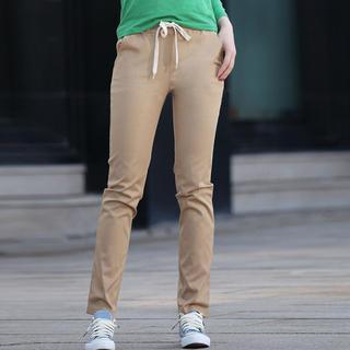 Drawstring Slim-fit Pants