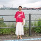 Band-waist Pleated Midi Chiffon Skirt