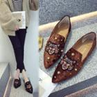 Embroidered Pointy Flats