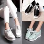 Perforated Wedge Oxfords