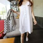 Sleeveless Linen Cotton A-line Dress