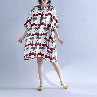 Cherry Printed Shift Dress