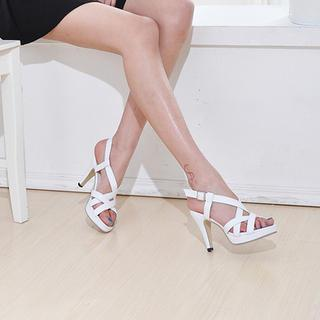 Faux-leather Strappy Sandals