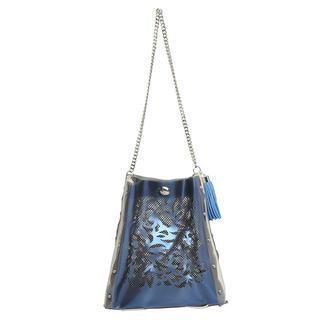 Oriental Crossbody Bag Navy & Cream - One Size