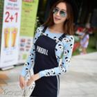 Panda Pattern Knit Top