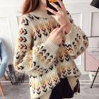 Patterned Cable-knit Chunky Sweater