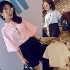 Short-sleeved Linen-blend Shirt