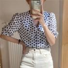 All Over Embroidery Shirt