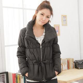 Drawstring-waist Padded Jacket