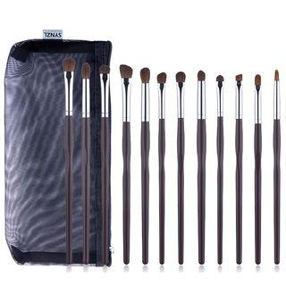 Set Of 12: Makeup Brush Set Of 12: Coffee - One Size