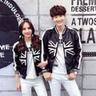 Couple Sequined Faux-leather Jacket