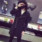 Asymmetric Zip Hooded Jacket