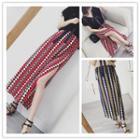 Patterned Slit Maxi Skirt