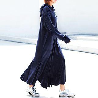 Hooded Pullover Maxi Dress