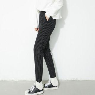Pinstriped Slim Fit Pants