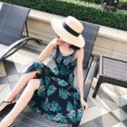 Floral Strappy Midi Sun Dress