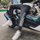Gather Cuff Panel Jeans