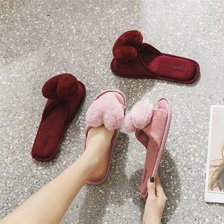 Heart Accent Slippers
