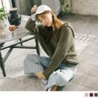 Hooded Cable Knit Top