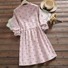 Cherry Long-sleeve A-line Dress