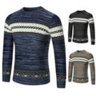 Long Sleeve Pattern Knit Top