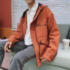 Letter Zip Hooded Jacket