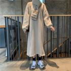 Midi Sweat Dress + Scarf As Shown In Figure - One Size