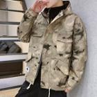 Camo Zipped Hooded Jacket
