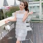 Sleeveless Mini Layered Dress