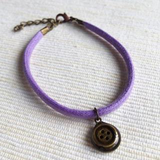 Button Cotton Bracelet One Size