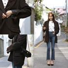 Flap-pocket Wool Blend Blazer