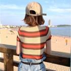 Striped Summer-knit Top
