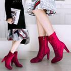 High-heel Zip-side Short Boots