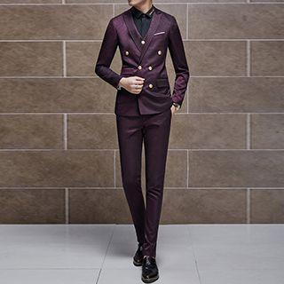 Set: Double-breasted Blazer + Vest + Dress Pants