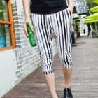 Stripe Cropped Pants