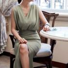 Sleeveless Slit Midi Dress