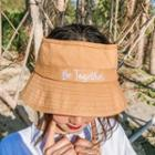 Embroidered Open Top Bucket Hat