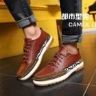 Genuine-leather Paneled Sneakers
