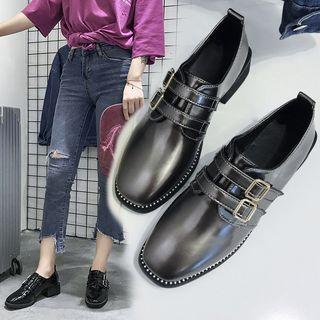 Studded Strapped Oxford Shoes