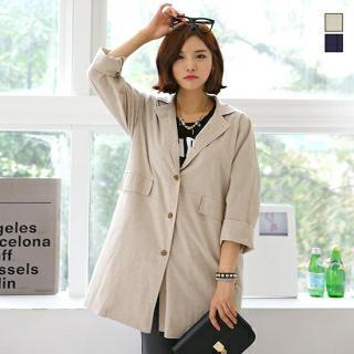 Single-breasted Cotton Jacket