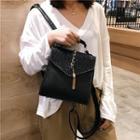 Sequin Panel Mini Flap Backpack