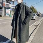 Double-breasted Long Fleece Jacket