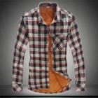 Fleece Lined Long-sleeve Shirt