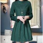 Check Long-sleeve Dress