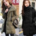 Mock-neck Buttoned Padded Coat