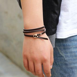 Layered Genuine-leather Bracelet