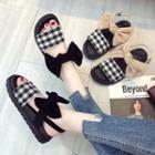 Bow Plaid Sandals